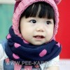 2013韩国小圆点宝宝围脖|儿童冬款披肩|儿童围巾脖套 W030