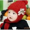 帽子批发新款婴儿童帽|小熊毛线冬帽|童帽外贸|手工编织帽M097